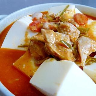 レンジでチン!タイカレー缶詰でタイ風麻婆豆腐