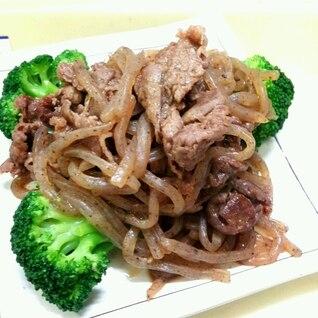 牛肉とこんにゃくのピリ辛中華炒め☆