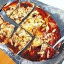 チョッキングで簡単♪味噌ソースdeナスの和風ピザ