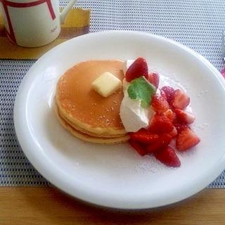 簡単カフェ風☆いちごパンケーキ