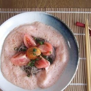 泡トマト蕎麦