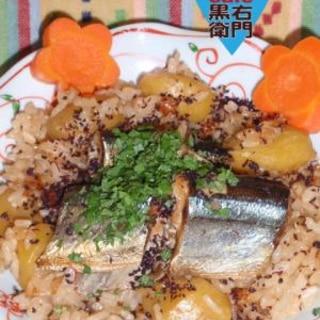 秋の香り!秋刀魚と栗の炊き込みご飯