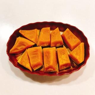レンジで簡単!時短かぼちゃの煮付け