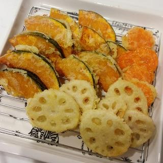 片栗粉で!根菜の天ぷら