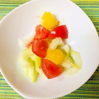 母の日に♪甘夏とトマトとセロリのさっぱりサラダ