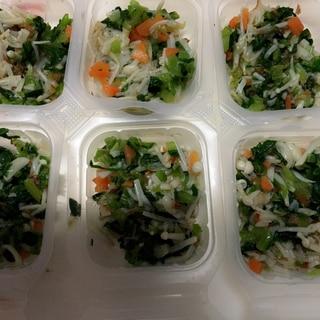 離乳食後期 小松菜と人参のおかか煮