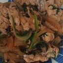 肉野菜のニンニクしょうがのポン酢炒め