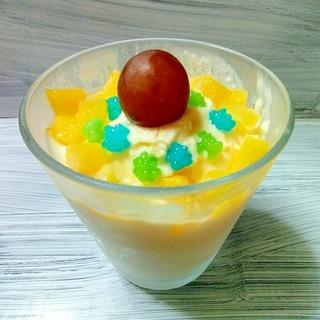 ハロウィンに✨金平糖とマンゴーのヨーグルトアイス