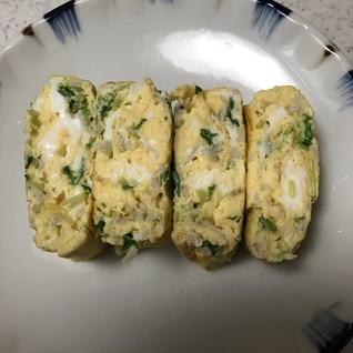 玉子焼き☆しらす&水菜