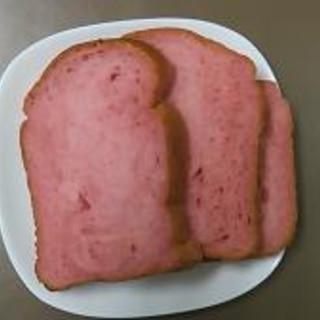 春の味覚☆めっさ苺の香り~ピンク色のいちごパン