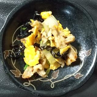 豚肉ときくらげと卵炒め(木須肉)〜お弁当にも〜