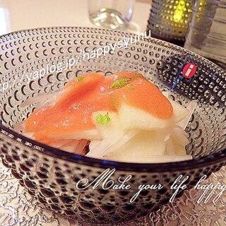 柿トマリンゴドレッシング☆大根とりんごのサラダ