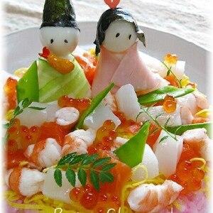 ひな祭りのお祝いに☆ちらし寿司ケーキ♪