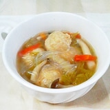 鶏団子と春雨の和風スープ