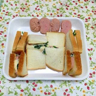 フィッシュハムで作るほうれん草とチーズのサンド