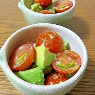 塩麹で♪トマトとアボカドのサラダ