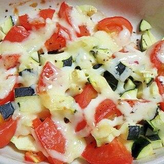 ズッキーニとトマトのマヨ焼き