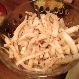 大根のめんつゆとマヨのサラダ