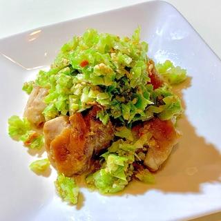 塩ダレキャベツで食べる鶏モモ焼き♡