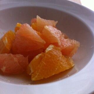 酸っぱいグレープフルーツで砂糖和え