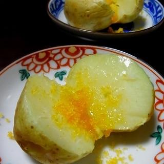 新じゃがで、じゃがバターからすみ。