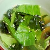キャベツとほうれん草のスープ