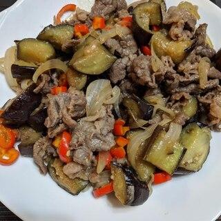 牛肉と夏野菜の味噌炒め