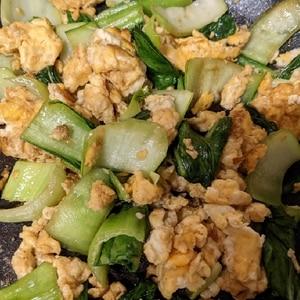 ちんげん菜とたまごの炒め物