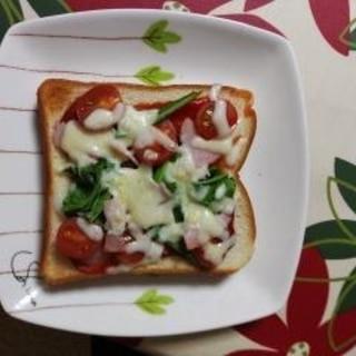 自家製トマトで手作りピザトースト