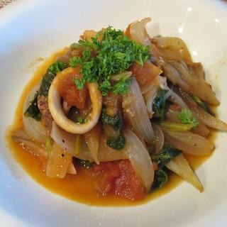 イカと舞茸のトマト煮
