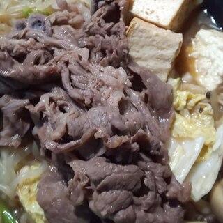 めんつゆで簡単 すき焼き 西のまるごと鍋