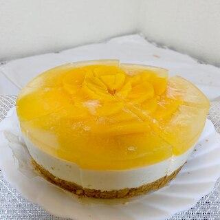 ♡桃缶でムースケーキ♡