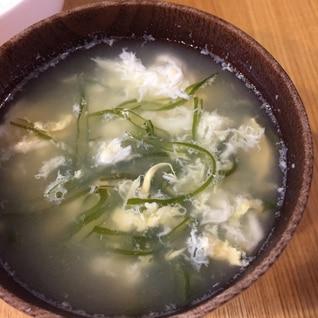茎わかめの卵スープ