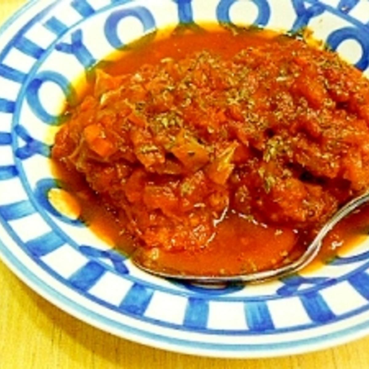 缶 トマト 煮込み ハンバーグ