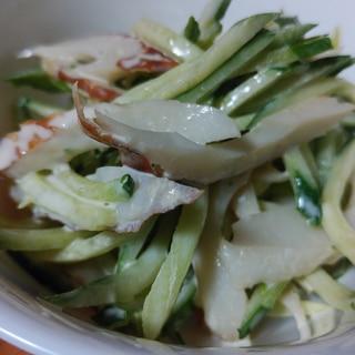 きゅうり大量消費*きゅうりとちくわのサラダ