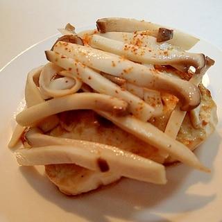 お好みソースで エリンギのせ豆腐ステーキ♬