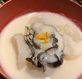 牡蠣とかぶの豆乳クリーム煮