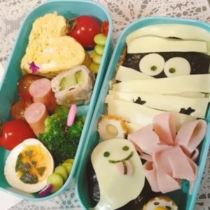 簡単キャラ弁☆ハロウィン おばけのお弁当♪