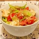 ごまだしドレッシングの豆腐トマトサラダ
