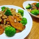 豚肉とかぼちゃのカレー風味炒め