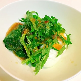 大葉が香る☆ほうれん草とゆで卵のお手軽和風サラダ