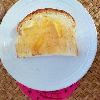 朝食♪さわやかレモン塩トースト