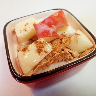 美的 玄米フレークと林檎のシナモン香るヨーグルト