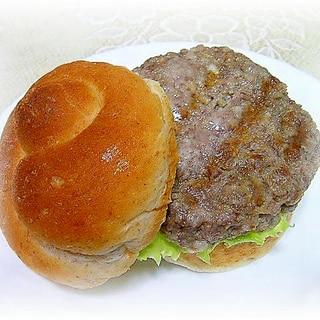 ジューシー♪お麩入りハンバーガー用パティ