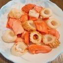 鮭とちくわの炒め物