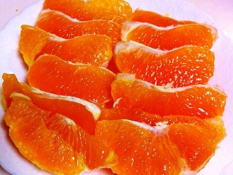 デコポンの剥き方と冷凍の仕方