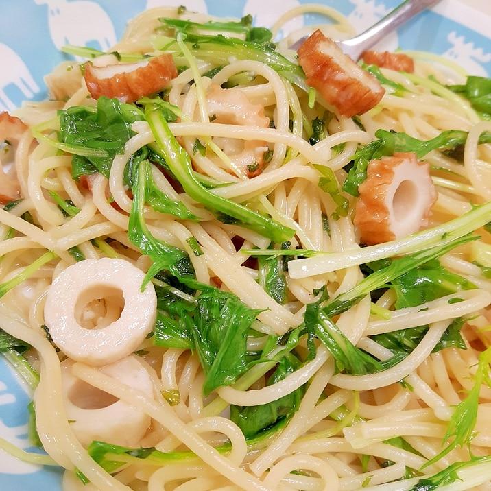 ゆず胡椒で(^^)シャキシャキ水菜と大葉のパスタ♪