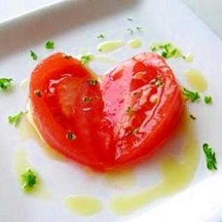 塩トマトのオリーブオイルかけ