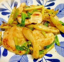 簡単★セロリと鶏むね肉の塩麹炒め☆