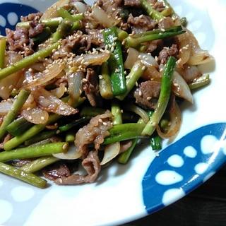 中華風♪にんにくの芽と豚肉炒め